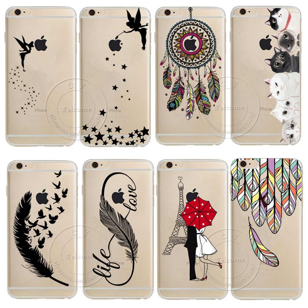 For iPhone XS Max XR X 4 4S 5 5S 5C SE 6 6S 7 8 Plus Case Dream Catcher Tinker Bell Tower Design Soft TPU Capa Silicon Cover