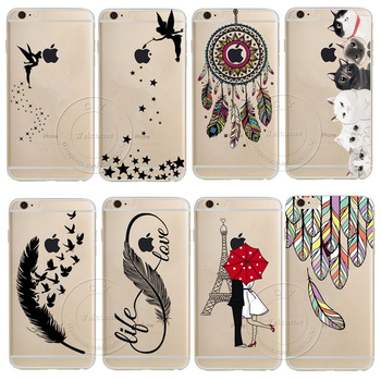 For iPhone 11 Pro XS Max XR X 4 4S 5 5S SE 6 6S 7 8 Plus Case Dream Catcher Tinker Bell Tower Design Soft TPU Capa Silicon Cover image