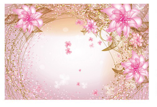 5D Dreamy Pink Peach Flower Papel Mural Wallpaper For Girl Bedroom TV Background 3d Wall Photo Murals Paper In Wallpapers From Home