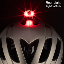 ROCKBROS Waterproof USB Rechargable Bicycle LightBike Light 100Lm Front Rear Headlight Helmet Warning