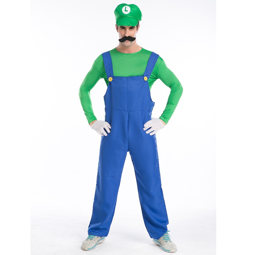 Halloween costume for men super mario cosplay costumes Parent-child clothing cartoon costumes