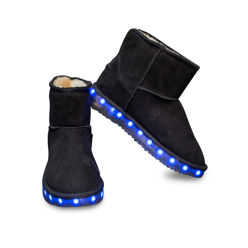 Newest Led Luminous Snow Boots Winter Led Light Boots for Boys and Girls Glowing kids sneaker USB Charging Light Up Led Shoes