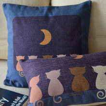 Cat Pillow Cushion Creative Cartoon 2pcs/Lot Cat-Looking-Moon Little