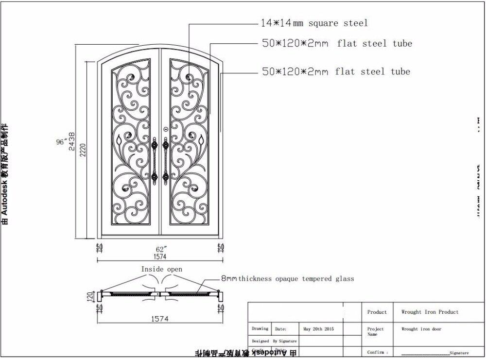 Hench 100% Steel Metal Iron Unique Wrought Iron Doors