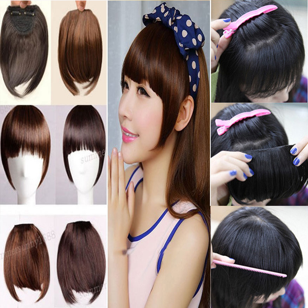 7inch short straight front neat bangs clip in on bang fringe hair 7inch short straight front neat bangs clip in on bang fringe hair extensions natural hair piece pmusecretfo Image collections