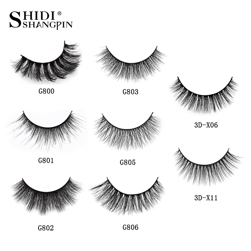bfe331ca94 SHIDISHANGPIN 1 box mink eyelashes natural long 3d mink lashes hand ...
