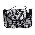 Women Cosmetic Bag Zebra Stripes Polyester Zipper Makeup Organizer Bag Travel Storage Bag Bolsa De Aseo Mujer #7128