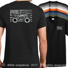 3d5a4653 2018 New Cotton T-shirt USA ATV Quad Flag T-Shirt american quad trail shirt  atv off road mud sand shirt Summer Style Tee Shirt