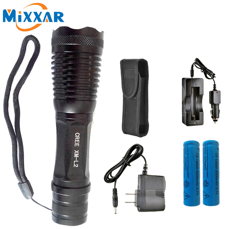 ZK20 8500LM CREE XM-L2  T6 L2 LED Flashlight E17 Aluminum Torches Zoomable LED Flashlight Torch Lamp For 3XAAA or 18650 Battery p80 panasonic super high cost complete air cutter torches torch head body straigh machine arc starting 12foot
