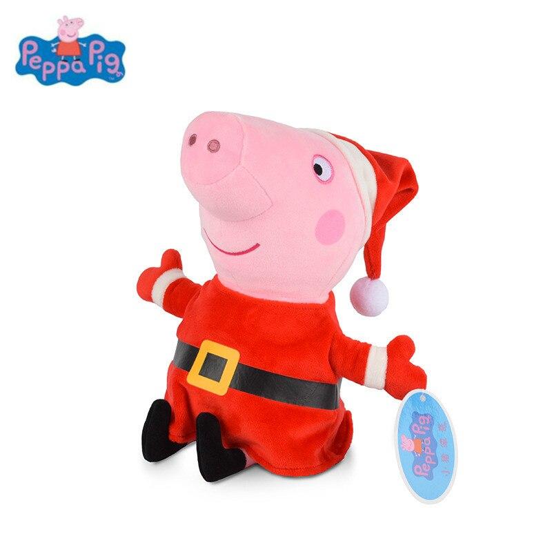 Comprar Navidad Peppa Pig George Pepa Familia Peluches 30 Cm Muñeca