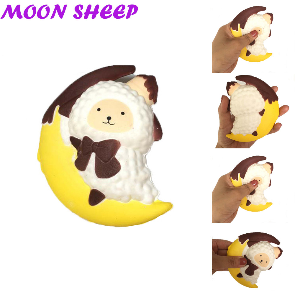Squeeze Toys Toys & Hobbies Popular Brand Cartoon Moon Sheep Stress Reliever Elastic Environmentally Pu Soft Yogurt Bottle Scented Toys Squeeze Toys Cute Slow Rising Warm And Windproof