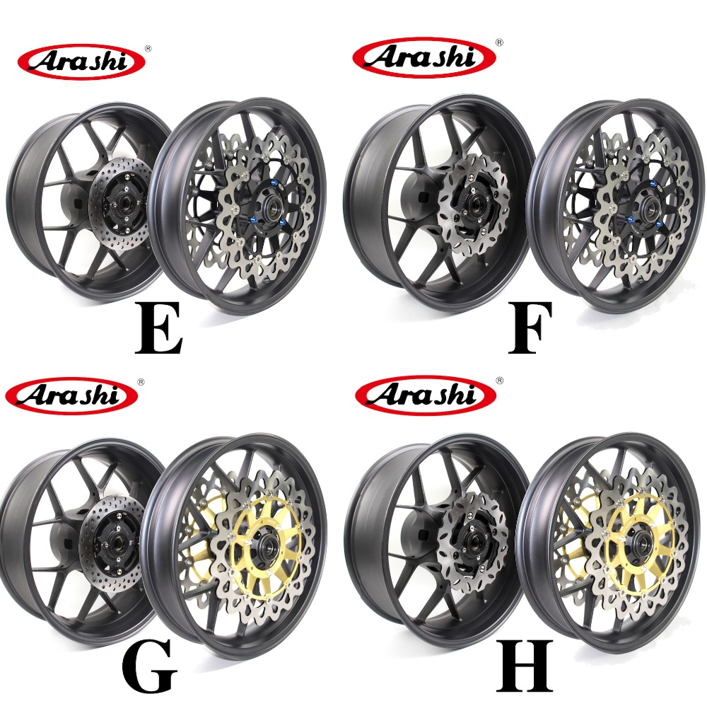 Arashi CBR1000RR Wheel Rim Rear Rims Set Brake Rotors For Honda CBR 1000 RR 1000RR 2006-2016 2016 2015 2014 2013 2012 2011 2010 arashi 1pair cbr600f 1999 2000 cnc front brake disc brake rotors for honda cbr f 600 cbr600 f 1999 2000