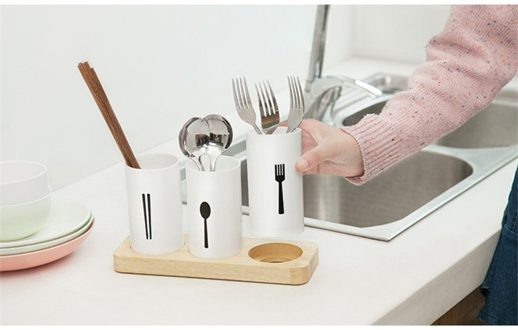 Cutlery Drainer Storage Racks Holders Organizer Kitchen Housekeeper Chopsticks Forks Spoons Console Stand Decoration Home Items