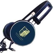 лучшая цена Anime Attack on Titan Scout Legion Survey Corps Recon Headphone Adjustable Sport Headphones Gaming Headset Stereo Headphones