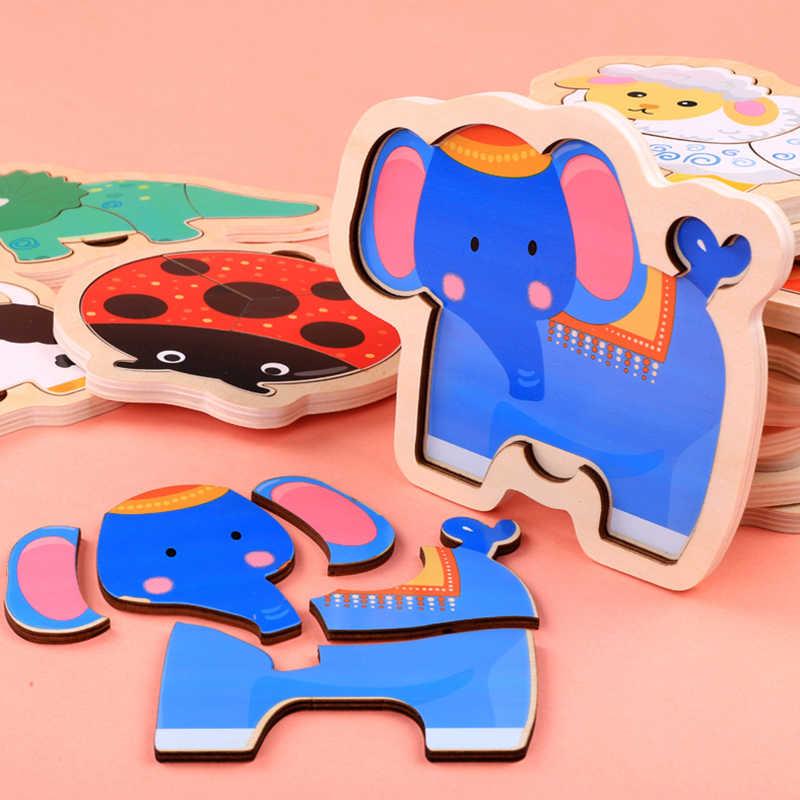 Logwood детская игрушечная деревянная головоломка 3D головоломка доска DIY Головоломка Monterssori обучающая игрушка для детей
