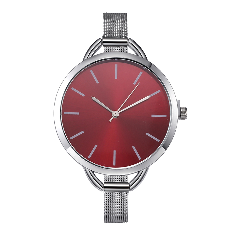 Top Luxury European Style Lady Watch Elegant Big Dial Quartz Super Slim Stainless Steel Bracelet Watch Women's Wrist Reloj Mujer