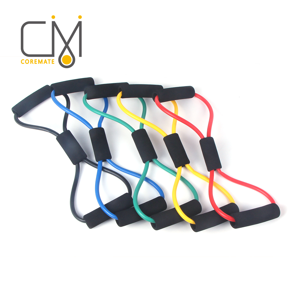 COREMATE Resistance Bands Fitness Latex Crossfit Workout