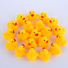 10Pcs 4Pcs Rubber Yellow Duck Baby Shower Water Bath bathroom Toys For Kids Children Education Birthday Favors Gift Toy L10