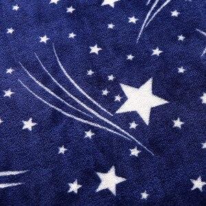 Image 5 - Manta de franela con estampado de galaxia y estrellas de CAMMITEVER, sofá a cuadros de lana, mantas estampadas para primavera e invierno