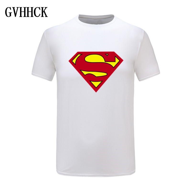 High quality Comic LOGO Super Hero T Shirt Superman Batman Captain America the Flash Marvel Movie Men Cosplay T-Shirts Tops image