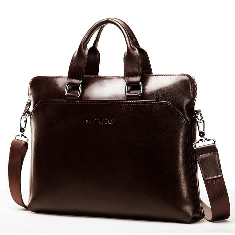 Online Shop Fashion Genuine Leather Bag Men Messenger Bags Man ...