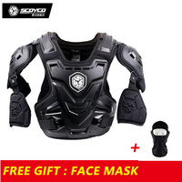 Scoyco Armor Motocross Vest Off Road Body Armor Motorcycle Armor Jacket Racing Protective Guard Gear with Arm Protectors