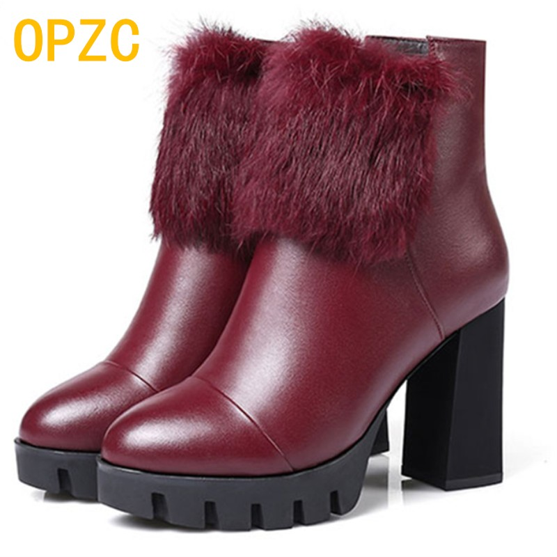 2018 winter new women's genuine leather boots, the female cotton wool boots, size 34 warm bare boots women genuine winter boots fall and winter girls boots knitted wool boots elastic cotton cloth boots