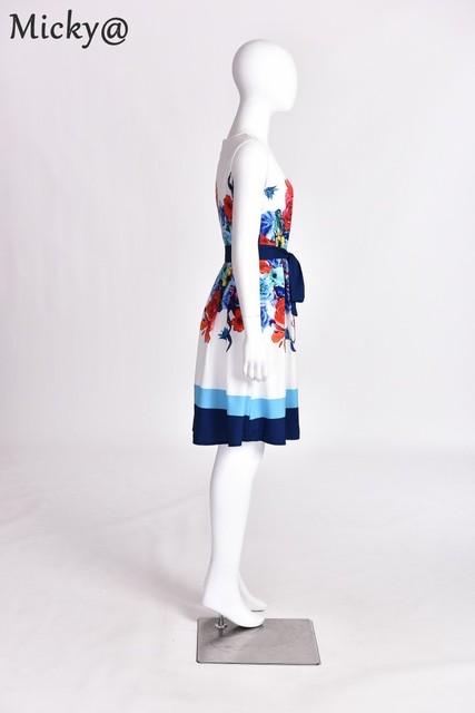 New Arrival! Women Fashion Print Dress Retro O Neck Printing Sleeveless Women Dress Sexy Party Dresses vestidos Large Size