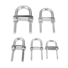 1Pc M5 M6 M8 M10 M12 Stainless Steel 304 Marine Rigging Bow/Stern Eye U-Bolt for Boat Hardware Boat Parts Silver цена и фото