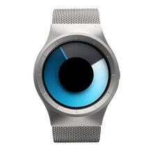 New Cool Men Women Steel Belt Electronic Digital Watch Quartz Movement Mineral Reinforced Glass Mirror Waterproof Clock