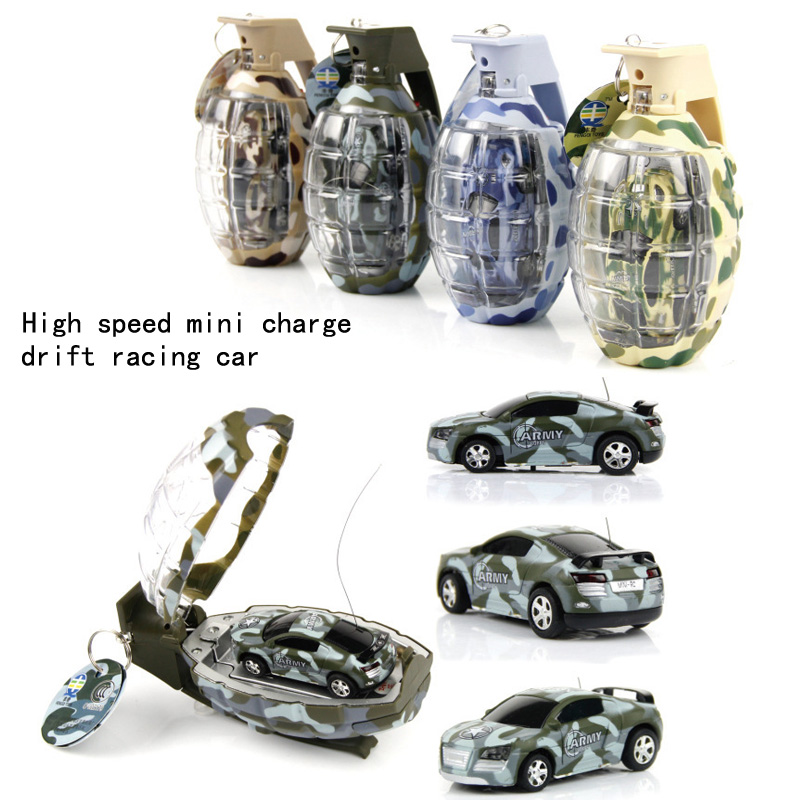 2017 New Mini Miniature Grenade Shape Remote Control High Speed Drift Racing Car Toys For Birthday Christmas Gift Children's Toy Rich In Poetic And Pictorial Splendor