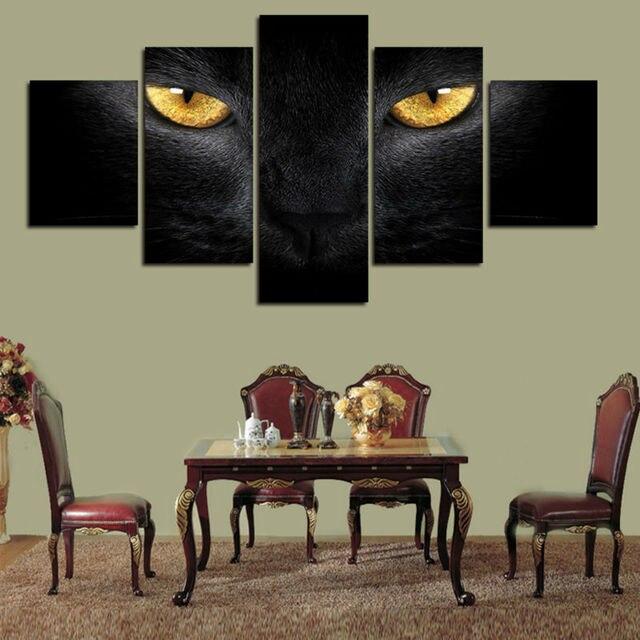 5 Unidsset Lobo Ojos Fresco Pared Cuadros Para Sentado Living