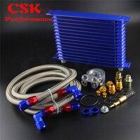 15 linha adaptador termostato motor corrida confiança óleo refrigerador kit para carro/caminhão azul/preto/ouro|  -