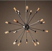 12 15 18 20 Head American Countryside Retro Style Chandelier Lamp Bars Decoration Coffee Shop Burner