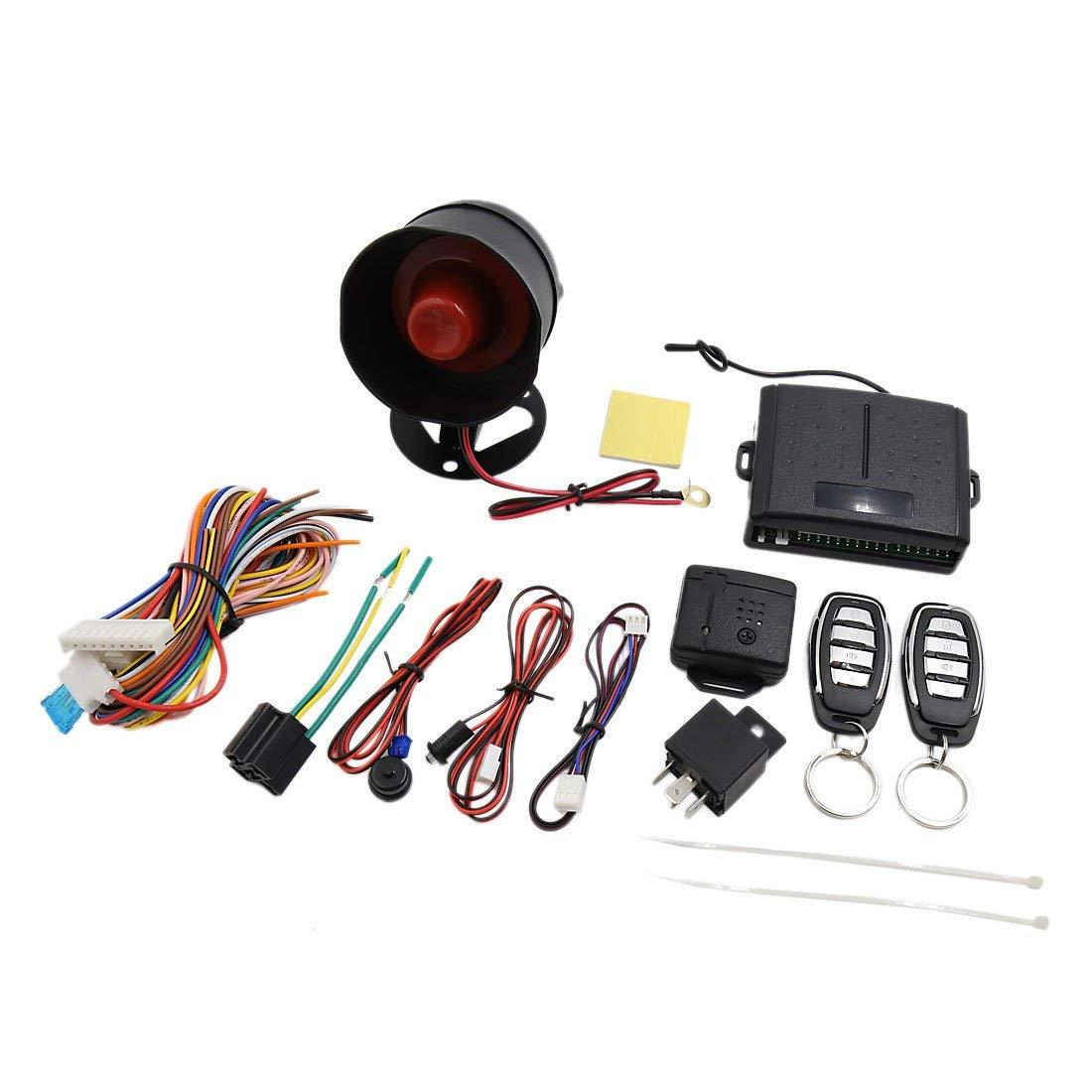 uxcell Car Alarm Security System Manual Reset Button Burglar Alarm Protection DC 12V