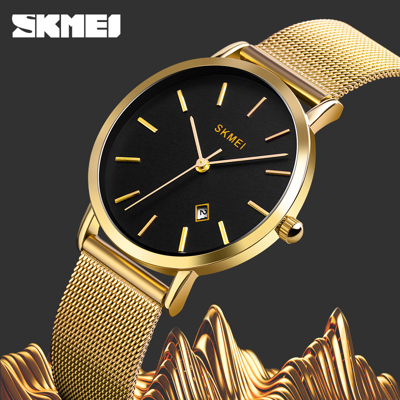 SKMEI Top Brand Women Watch Fashion Watch Woman Sport Date Analog Quartz Watches Stainless Steel Casual Female Clock Wristwatch
