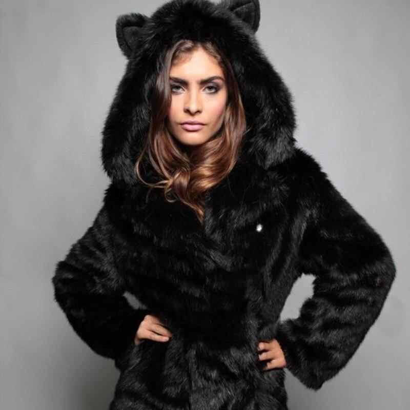 Mode Gilet Mujer En Manteau Vrac Renard Automne Femmes Abrigo Imitation black White gray Fourrure Jachère De 2018 Type Sx76gwHtxq