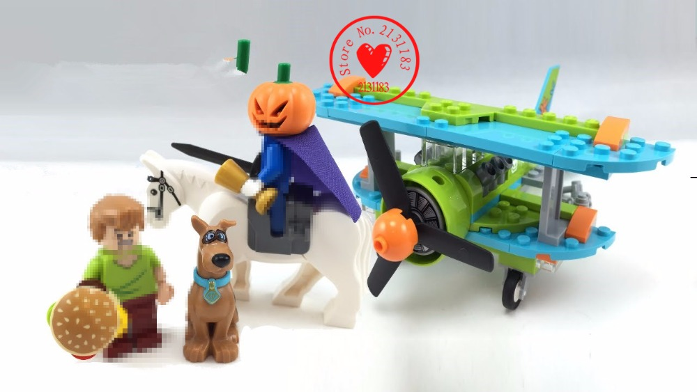 10429 Scooby Doo model building blocks kits 128pcs Bela Mystery Plane Dog brick birthday toys Compatible 75901 kid gift set bela 10429 scooby doo mummy museum mysterious plane minifigures building block minifigure toys best legoelieds toys