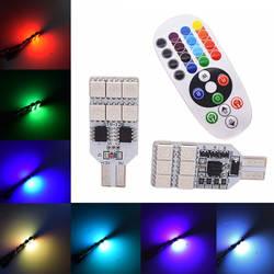 Icoco 12 LED красочный RGB дистанционного управления автомобилем потолочный плафон T10 5050 Светодиодные лампы для чтения лампа автомобиля