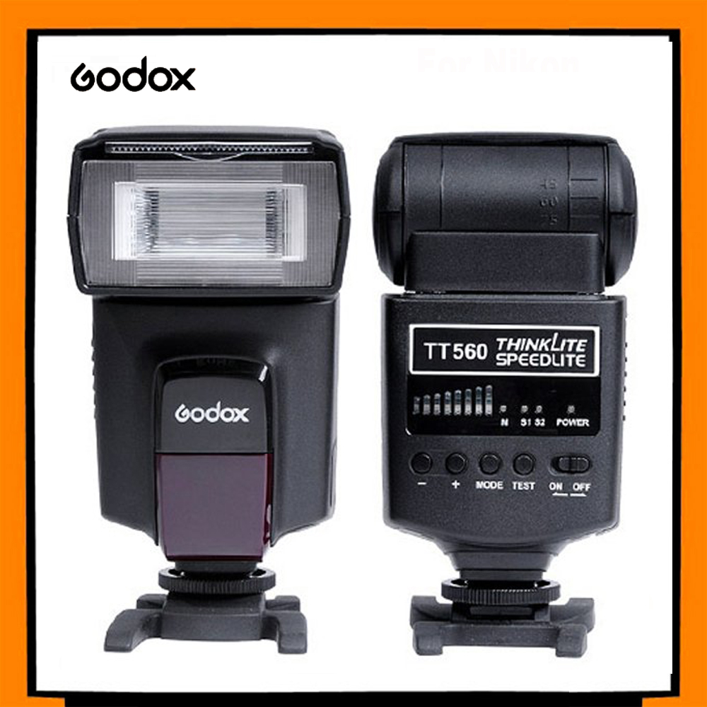 NEW Godox TT560 Flash ThinkLite Electronic On-camera Speedlite with Soft Box for Nikon Canon Pentax Olympus Cameras