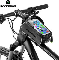 ROCKBROS MTB Road Bike Bicycle Bags Waterproof Touch Screen Cycling Front Tube Frame Bags 6 0