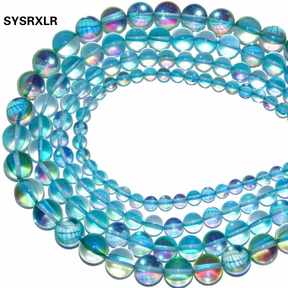 Venta al por mayor Natural Aqua Aura Blue Crystal Beads Branelli - Bisutería - foto 3