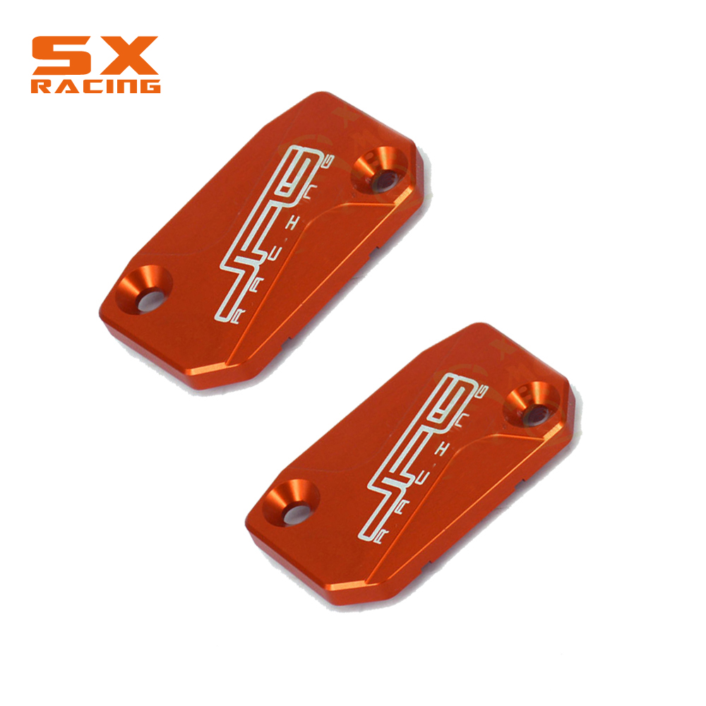 Motorcycle 2PCS Front Brake Reservoir Cap Cover For KTM SX EXC XCF SXF XC XCFW XCW SMR 125 150 200 250 300 350 400 450 500 530 image