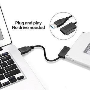 Image 4 - Slimline SATA vers USB 3.0 SATA7 + 6 13 broches Sata câble CD pilote ligne denregistrement pour HDD lecteur adaptateur expédition rapide