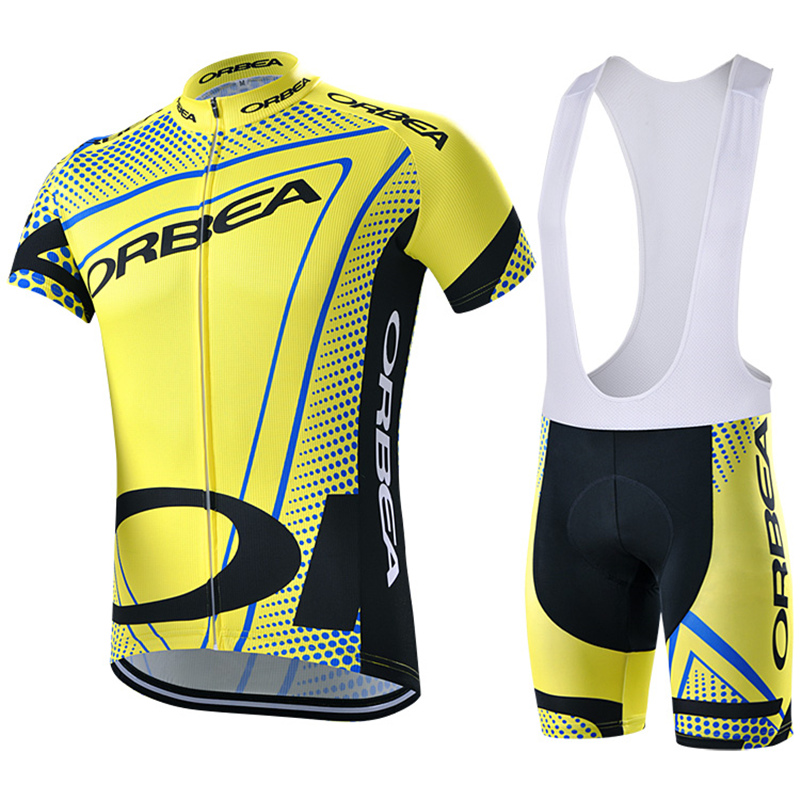 ФОТО 2015 Orbea Yellow Short Sleeve Cycling Jersey Summer Breathable Mtb Bike Clothes Maillot Ciclismo Bicycle Cycle Clothing #DH-77