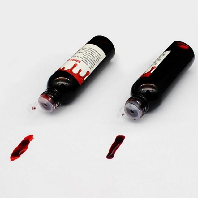 30ml Halloween Cos Ultra-Realistic Fake Blood Simulation of Human Vampire Human Teeth Hematopoietic Props Vomiting Edible Pulp