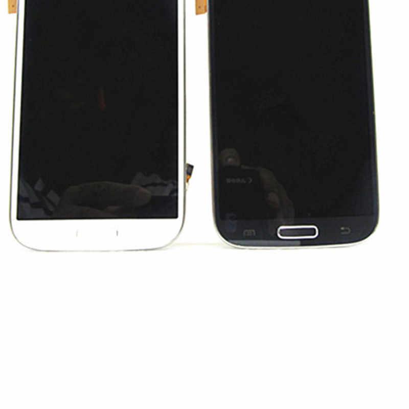 أفضل سوبر AMOLED شاشات lcd لسامسونج غالاكسي SIV S4 i9506 عرض شاشة رقمية تعمل بلمس مع الإطار أزرق غامق/أبيض/أسود استبدال