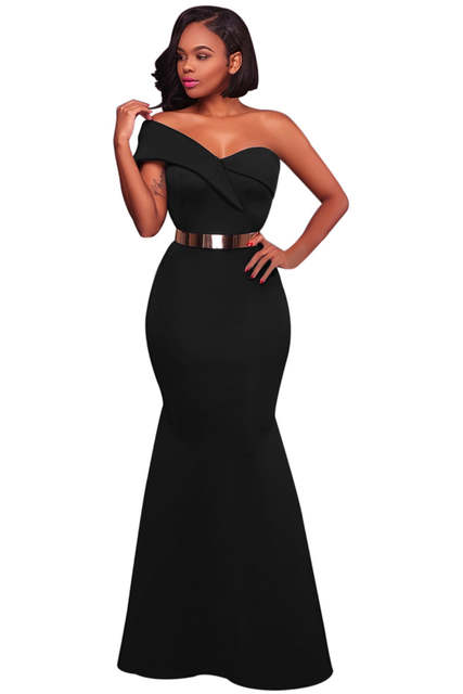 104ed6fabfe Adogirl 2018 New Sexy One Shoulder Ponti Gown Delicate Wrapover One  Shoulder Mermaid Dress Maxi Evening