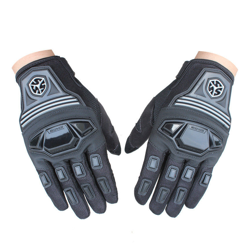 New Brand Breathable Protective Motorcycle Gloves Motocross Racing Gloves Motorbike Driving Gloves Bicycle Cycling Gloves M