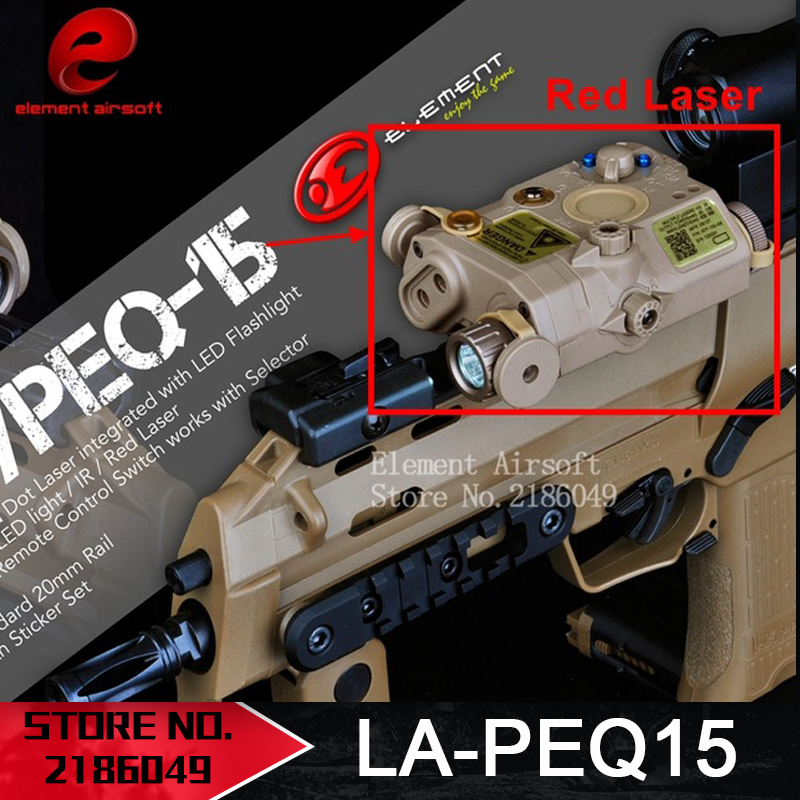 Elemen Airsoft LA PEQ15 Red Dot Tactical light PEQ Red Laser PEQ 15 IR lights Laser Combo Memburu softair Peq-15 Light EX276